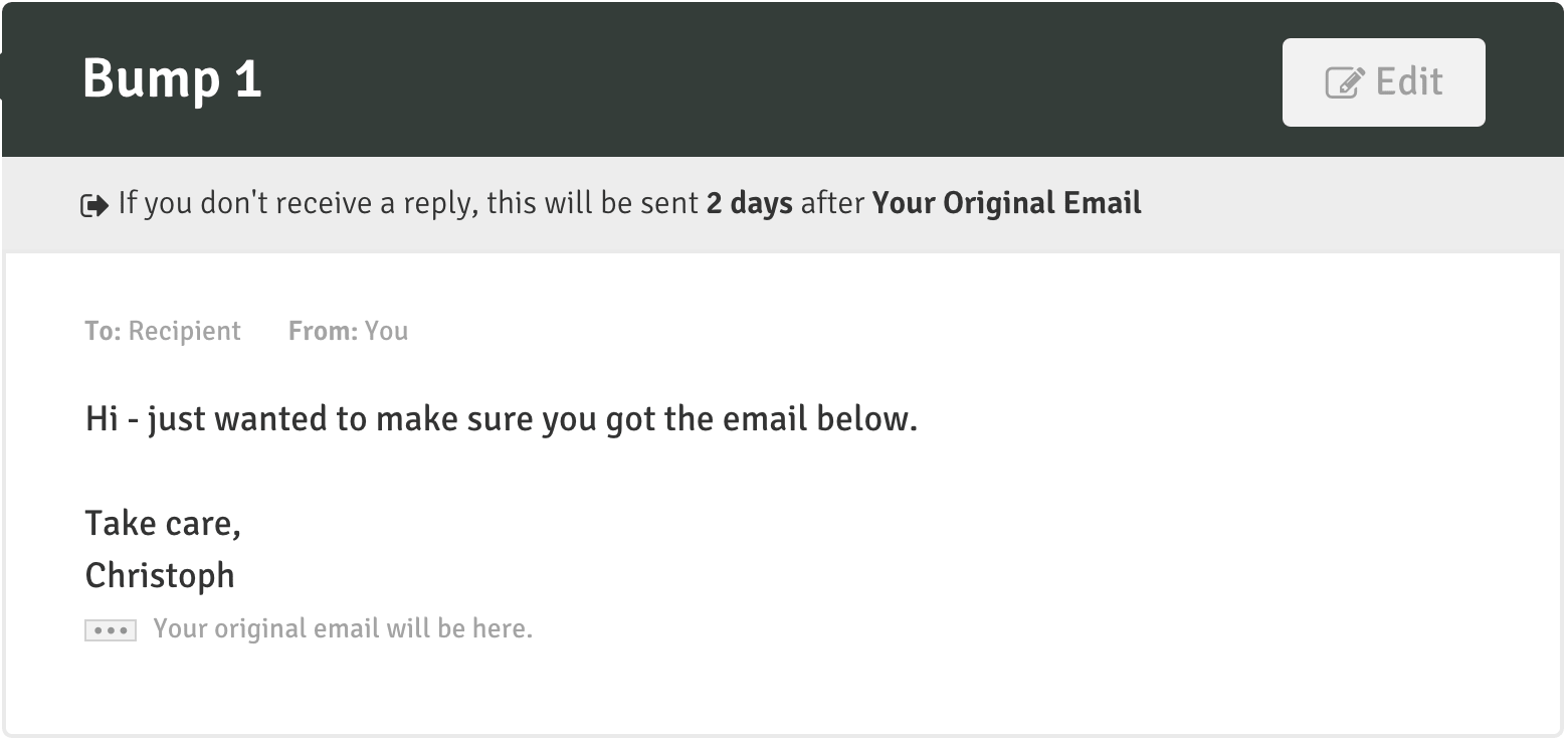 Email Marketing Trick: Follow Up Number 1