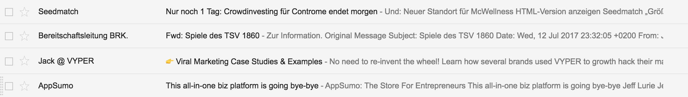 Emojis stand out in the email inbox
